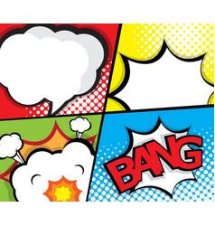 comic book pop art speech bubble page template vector image