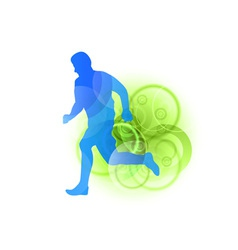 silhouette of a runner vector image vector image