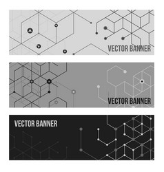 technology banner collection vector image vector image