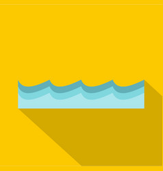 Water icon flat style vector