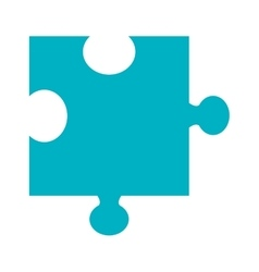 blue puzzle piece graphic vector image
