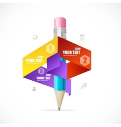 Creative paper infographics options banner vector image vector image