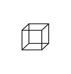 cube icon vector image