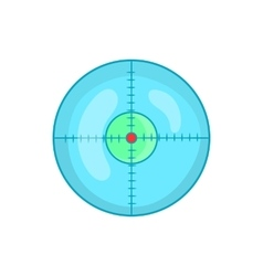 Optical sight icon in cartoon style vector image vector image