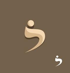 swoosh man beauty logo vector image