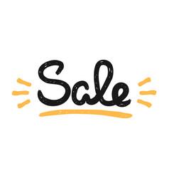 type retro hipster slogan sale hand-drawn vector image
