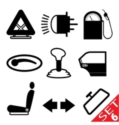car part icon set 6 vector image vector image