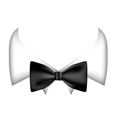 colorful sticker bow tie with shirt icon vector image