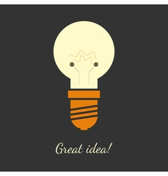 ligh bulb vector image vector image