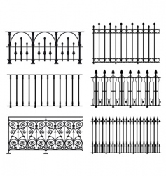 railings and fences vector image