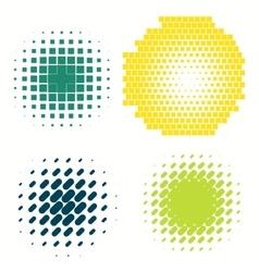 Set of colorful logos halftone Circles Logo vector image