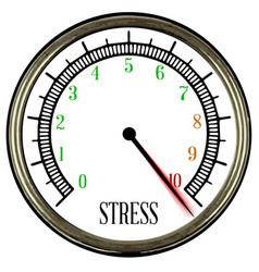 Stress meter vector