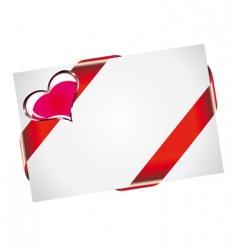 valentine postcard vector image vector image