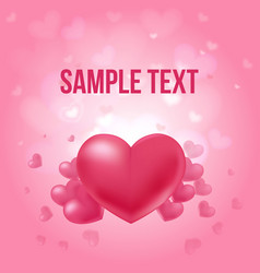 Valentines day amorous poster vector