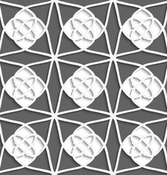 White geometrical ornament with white layering on vector image vector image