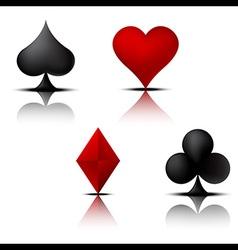 Card Suit Set 2 vector image