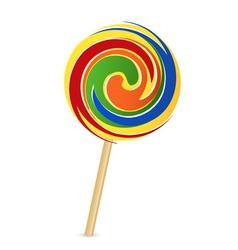 colorful lollipop vector image vector image