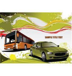 grunge transport background vector image vector image