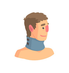 neck brace used to treat cervical spine problems vector image vector image
