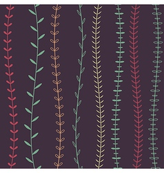 seamless decorative floral pattern vector image vector image