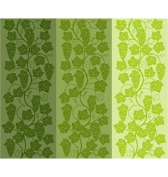 seamless floral background with a vine vector image