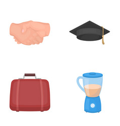 traveling learning and other web icon in cartoon vector image vector image