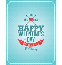 Valentines day retro vintage background vector