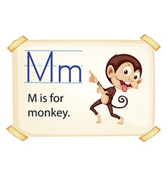 A letter m for monkey vector