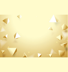 Abstract gold 3d pyramids background vector