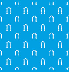 archway element pattern seamless blue vector image