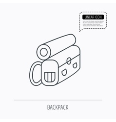 Backpack icon Travel equipment sign vector image