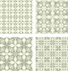 Beige seamless pattern background set vector