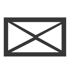 black and white mail envelope graphic vector image