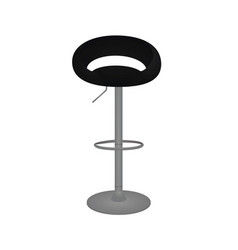 black bar chair vector image
