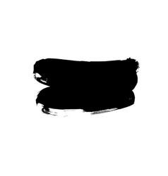 black paint ink brush stroke vector image
