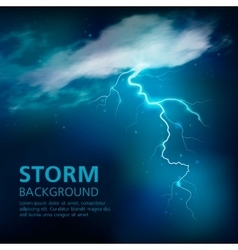 Bolt Of Lightning Background vector image