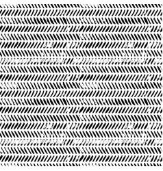 Brush strokes grunge zig zag seamless pattern vector