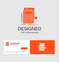 Business logo template for accounting audit vector