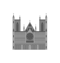cartoon norwegian cathedral building travel and vector image