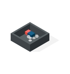 Cash box isometric vector image