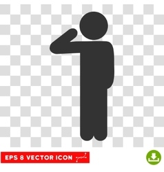 Child Salute Eps Icon vector