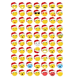 Christmas Emoticons Emoji set vector image