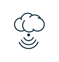cloud computing connection internet things line vector image