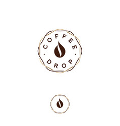 coffee drop cafe flat icon vector image