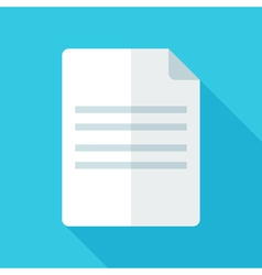 Colorful document icon in modern flat style with vector image