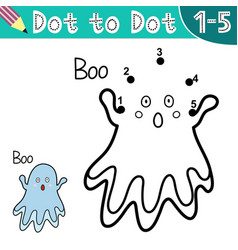 Connect digits and draw a cute ghost vector