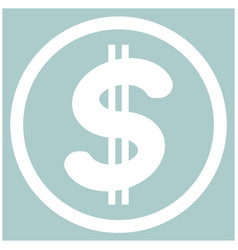 Dollar in the circle the white color icon vector