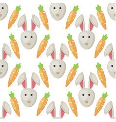 Easter bunny rabbit cartoon seamless vector