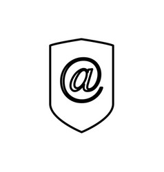 email security icon vector image