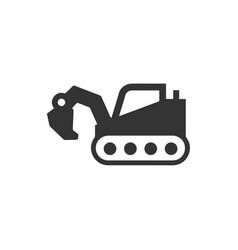 Excavator digger icon vector